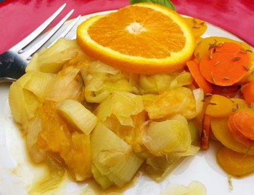 Fondue de poireaux à l'orange